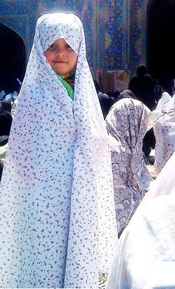 دختر بچه چادری