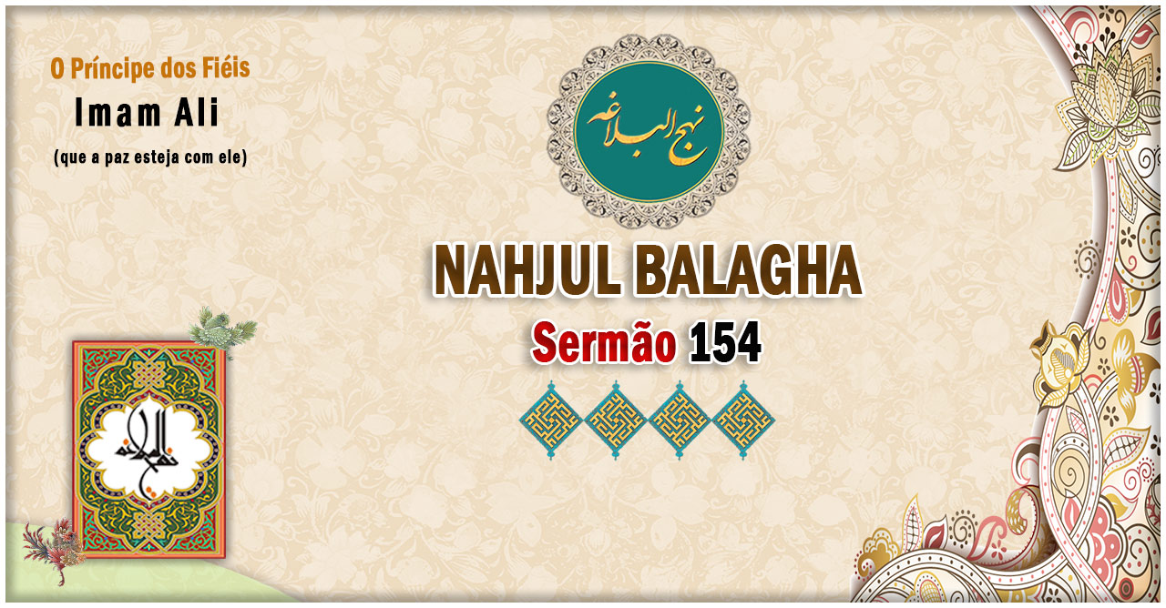 Nahjul Balagha Sermão nº 154