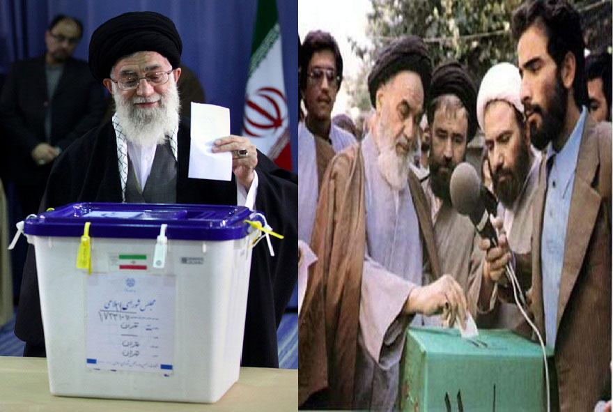 رأی دادن امام خمینی و مقام رهبری