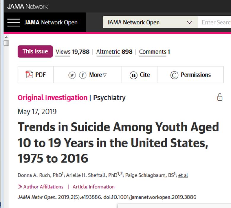 آمار خودکشی در غرب