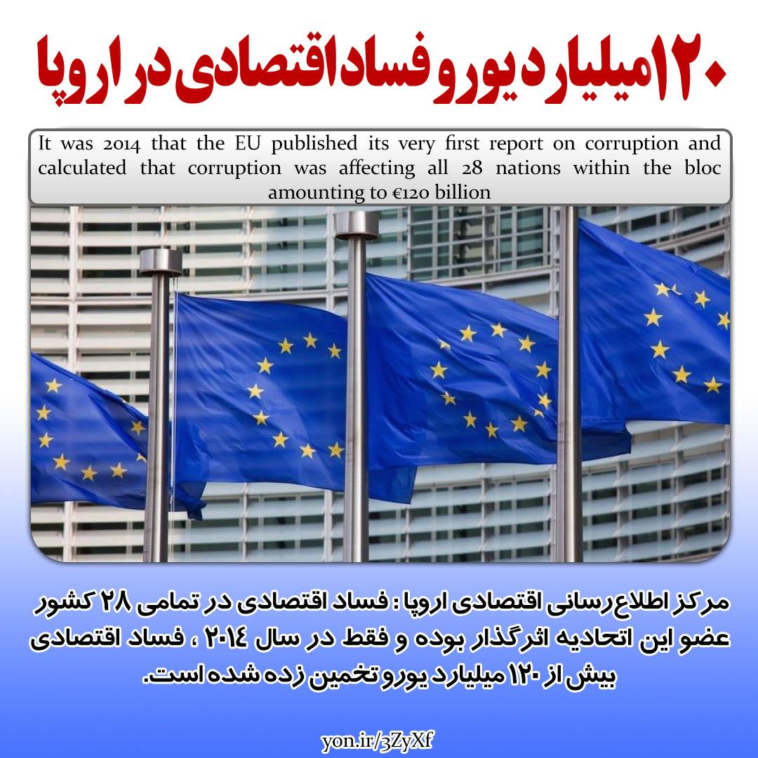 120 میلیارد فساد مالی در اروپا