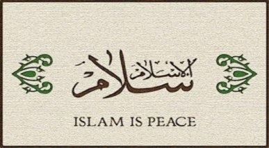 Islam is a religion of peace and tranquility