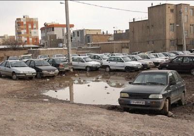 پارک، خودرو، ماشین، زمین، خالی