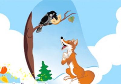 روباه و کلاغ