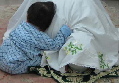 کودک، گریه، نماز، مادر