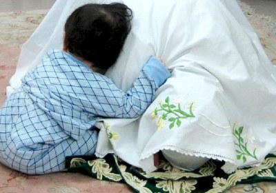 نماز، سجده، آرایش، پیشانی