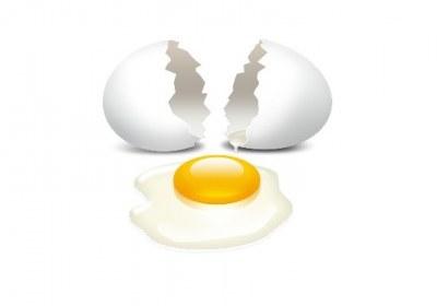عکس یک تخم مرغ شکسته
