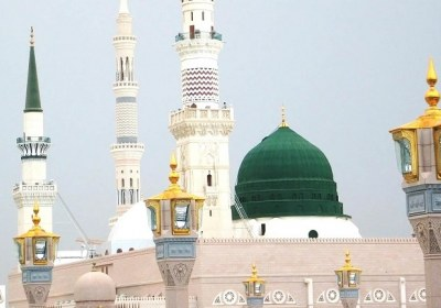 تصویری از گنبد خضراء نبوی