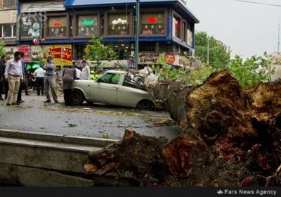 طوفان پایتخت تهران