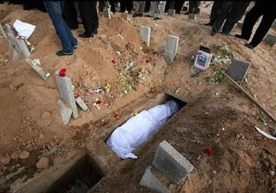 خمس، قبر، کفن