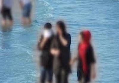 اختلاط، شنا، زن