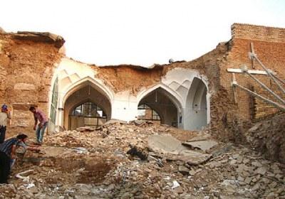 حکم زمین مسجد پس از ویرانی