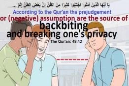 Backbiting is an output of negative assumption