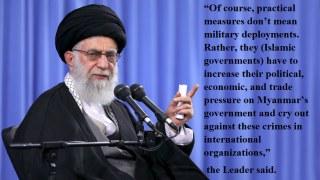 Ayatollah Khamenei urges action against Myanmar govt. over Rohingya Muslims