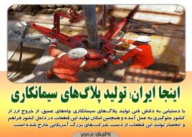 اینجا ایران؛ تولید پلاگ های سیمانکاری